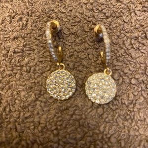 "🛍GOLD TONE EARINGS AS SHOWN- 2"" DROP🛍WORN ONCE🛍"